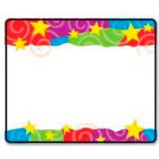 "Trend® Stars 'n Swirls Name Tags, 2-1/2"" x 3"", 36 Tags/Pack"