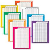 "Trend® Vertical Incentive Charts Variety Pack, 22"" x 28"", 50 Rows/30 Columns, 8 Charts/Pack"