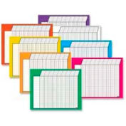 "Trend® Horizontal Incentive Charts Variety Pack, 22"" x 28"", 36 Rows/45 Columns, 8 Charts/Pack"