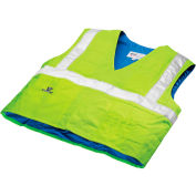 Techniche 6538 Hyperkewl™ Evaporative Cooling Traffic Safety Vest Class 2, L/XL, Hi-Vis