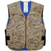 Hybrid Cooling Military Vest, 2XL, Marine Desert
