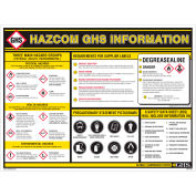 """INCOM® GHS1004 GHS Information Wall Chart, 18"""" x 24"""""""