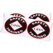 "INCOM® GHS1026 ""GHS Safety Trained"" Vinyl Labels, 2-1/2"" Diameter, 10/Pack"