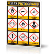 """INCOM® GHS1028 GHS Simplified Pictogram Wall Chart, 18"""" x 24"""""""