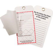 INCOM® GHS1043 GHS Style Self-Laminating Workplace Tags, Blank, 25/Pack