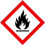 "INCOM® GHS1270 GHS ""Flame Hazard"" Pictogram Placard, 10-3/4"" x 10-3/4"""
