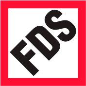 "INCOM® GHS1302 FDS Awareness Vinyl Decal, 4"" x 4"", 10/pack"