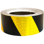"Super Brite Reflective Tape, Yellow/Black, 2""W x 30'L Roll, HRT230YB"