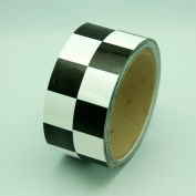 "Hazard Marking Tape, Black/White Checker, 2""W x 54'L Roll, LCB212"