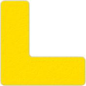 Floor Marking Tape, Yellow, L Shape, 25/Pkg., LM110Y