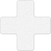 Floor Marking Tape, White, + Shape, 25/Pkg., LM120W