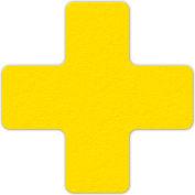 Floor Marking Tape, Yellow, + Shape, 25/Pkg., LM120Y