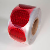 """Reflective Marking Tape, Red, 3""""Dia. Circle, 50/Roll, RR350RD"""