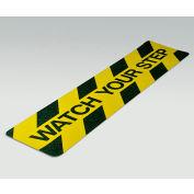 "Gator Grip Cleat, Watch Your Step, Yellow/Black, 6""W x 24""L, 10/Pkg., SG3126WYS"