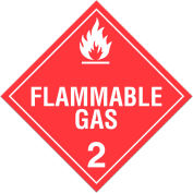 INCOM® TA210PS Class 2.1 Flammable Gases Adhesive Vinyl Placard