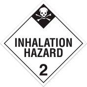 INCOM® TA230PS Class 2.3 Inhalation Hazard Adhesive Vinyl Placard