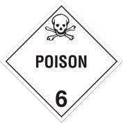 INCOM® TA600SS Class 6.1 Toxic Substances Rigid Plastic Placard