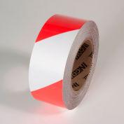 """Tuff Mark Tape, Red/White, 2""""W x 100'L Roll, TM1202RW"""