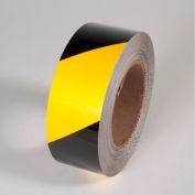 """Tuff Mark Tape, Yellow/Black, 4""""W x 100'L Roll, TM1204YB"""