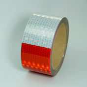 """Conspicuity DOT-C2 Reflective Tape, Red/White, 2""""W x 30'L Roll, V57203SR"""