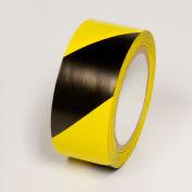 """Hazard Marking Tape, Yellow/Black Stripes, 4""""W x 108'L Roll, WT2140"""