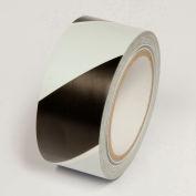 """Hazard Marking Tape, Black/White Stripes, 2""""W x 108'L Roll, WT2300"""