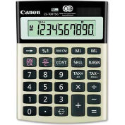 "Canon® 10-Digit Calculator, LS100TSG, Dual Power, 4-1/8"" X 5-1/2"" X 1-1/3"", Black"