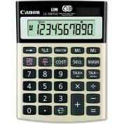 "Canon® 10-Digit Calculator, LS100TSG, Dual Power, 4-1/8"" X 5-1/2"" X 1-1/3"", Black"