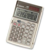 "Canon® Handheld Calculator, LS154TG, 12-Digit, Dual Power, 3-1/8"" X 4-3/4"" X 2/5"", Ebony"