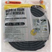 """Frost King Sponge Rubber Foam Tape, 1-1/4"""" W X 7/16"""" D X 10' L, Black - Pkg Qty 12"""
