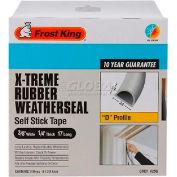 "Frost King X-Treme Rubber Weatherstrip Tape, 3/8"" W X1/4"" D X17' L, Gray - Pkg Qty 12"