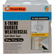 """Frost King X-Treme Rubber Weatherstrip Tape, 3/8"""" W X 1/4"""" D X 17' L, White - Pkg Qty 12"""