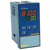 Temperature Control - Prog, 90-250V, Relay2A, 1/16 DIN, TEC-8100