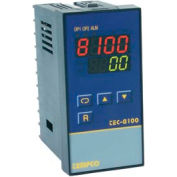Temperature Control - Prog, 90-250V, Relay2A, 1/8 DIN, TEC-8100