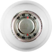 TPI Low Voltage Round Thermostat Heat Only For 24V Heating Systems A6176