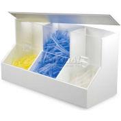 "TrippNT™ Dispensing Bin w/3 Compartments, Large, 18""W x 9-1/2""D x 7-1/4""H"