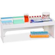 "TrippNT™ White PVC 24"" Step Shelf Station, 24""W x 9""D x 8""H"