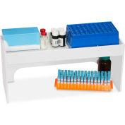 "TrippNT™ White PVC 18"" Step Shelf Station, 18""W x 7""D x 8""H"