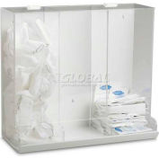 "TrippNT™ 3-in-1 White PVC & Clear Acrylic Large Apparel Dispensing Bin, 20""W x 9""D x 19""H"