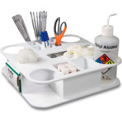 "TrippNT™ 50136 Rotating All-In-One Maximum Lab Organizer Large 15"" x 15"" x 5"" White"