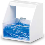"""TrippNT™ White PVC and Acrylic Single Pipette Workstation, 9""""W x 7""""D x 10""""H"""