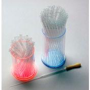 "TrippNT™ Large Acrylic Pasteur Pipette Cylinder Holder, Blue Base, 4""W x 4""D x 6""H"