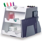 "TrippNT™ White PVC Rotating Multi-Compartment Workstation, 15""W x 13""D x 13""H"
