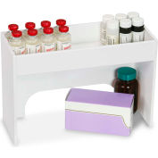 "TrippNT™ White PVC 12"" Step Shelf Station, 12""W x 5""D x 8""H"