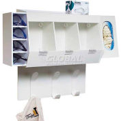 """TrippNT™ White Lab Entry Gowning Changing Room Station, 18""""W x 7""""D x 20""""H"""