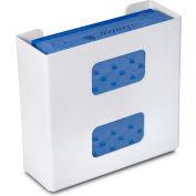"""TrippNT 50306 Plain Double Glove Box Holder & Dispenser, 11"""" W x 10"""" H x 4"""" D, White, Styrene"""