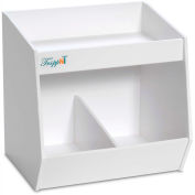 "TrippNT™ 50433 PVC Bin with 2 Compartments 11"" x 9"" x 10"" White"
