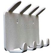"""TrippNT™ 4 Position Apron & Lab Coat Hook w/Magnet, 15-1/2""""W x 2-1/4""""D x 6-1/2""""H"""