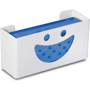 """TrippNT 50827 Smiley Single Glove Box Holder & Dispenser, 11"""" W x 6"""" H x 4"""" D, White, Styrene"""