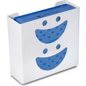"""TrippNT 50828 Smiley Double Glove Box Holder & Dispenser, 11"""" W x 10"""" H x 4"""" D, White, Styrene"""